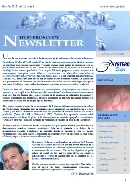 hysteroscopy newsletter vol 1 issue 3